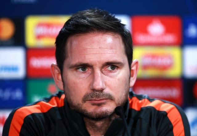 Frank Lampard, pictured, has called on Callum Hudson-Odoi to learn from his recent off-field issues (Adam Davy/PA)