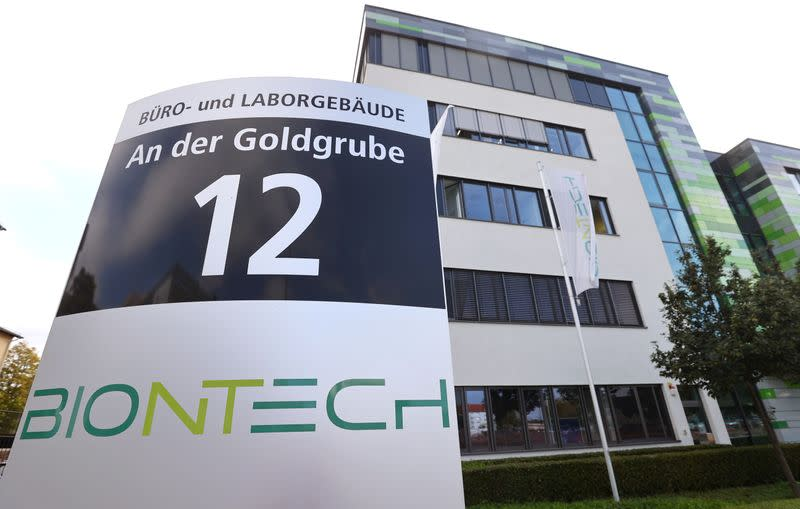 FILE PHOTO: The headquarters of German biotech firm BioNTech is photographed in Mainz