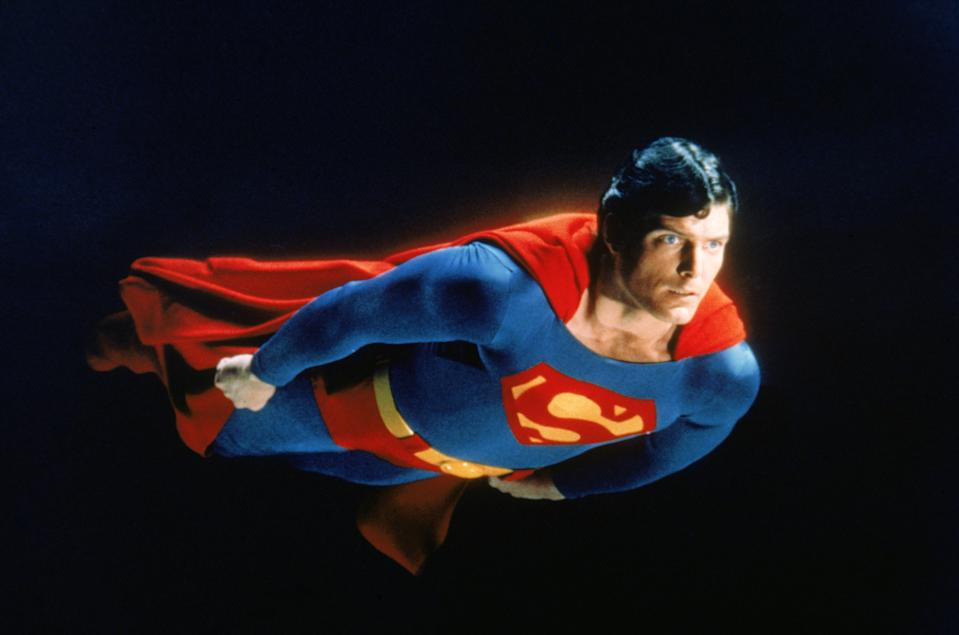 Christopher Reeve takes flight as the Man of Steel in Superman II (Warner Bros.)