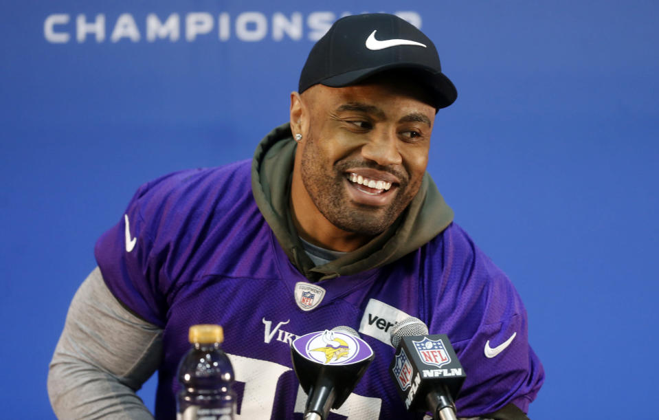 Minnesota Vikings defensive end Everson Griffen is being evaluated at a Minneapolis-area hospital after a weekend incident. (AP)