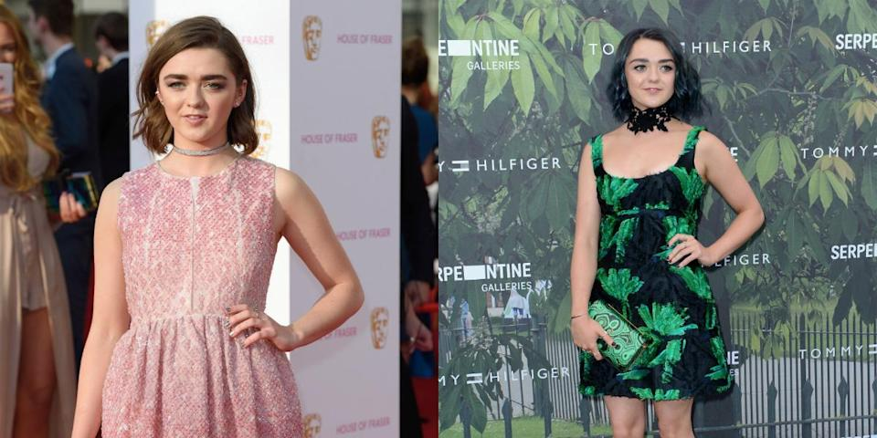 """<p>The """"Game of Thrones"""" star debuted some shocking teal blue locks this summer! <i> (Photos: Getty/July 2016) </i> </p>"""