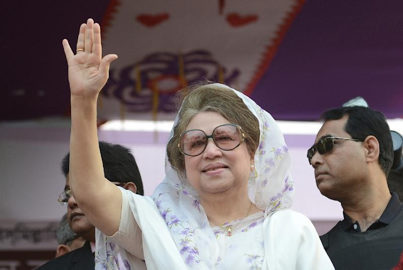 A Bangladeshi court has issued an arrest warrant for opposition leader Khaleda Zia for failing to attend hearings for graft charges, amid growing political turmoil in the country (AFP Photo/Munir Uz Zaman)