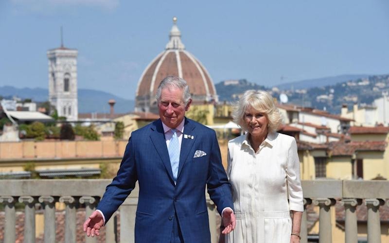 Prince Charles and the Duchess of Cornwall at the Palazzo Pitti in Florence - Credit: Maurizio Degl' Innocenti