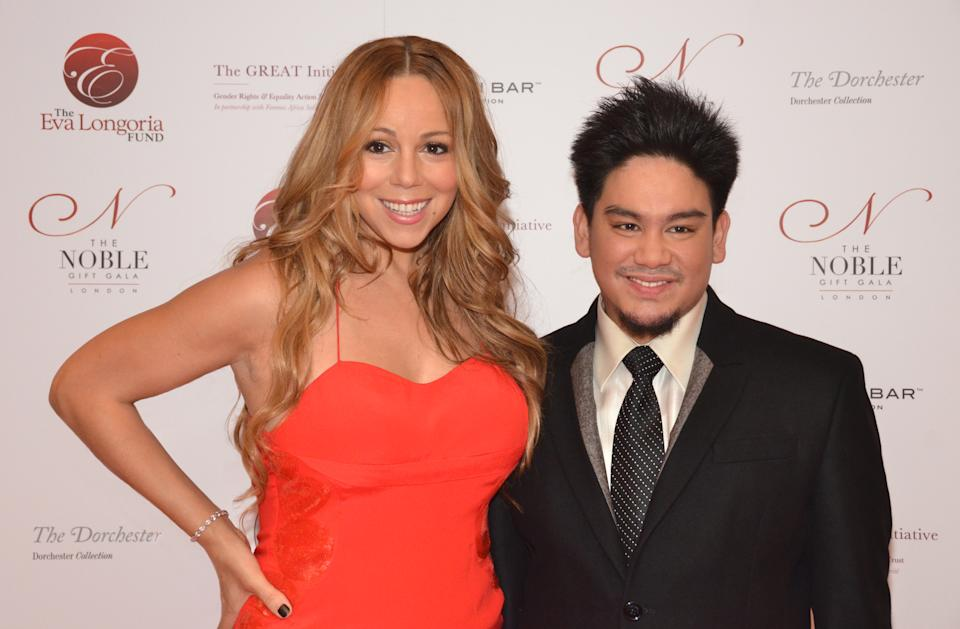 Mariah Carey and Prince Azim of Brunei, London, 2011.