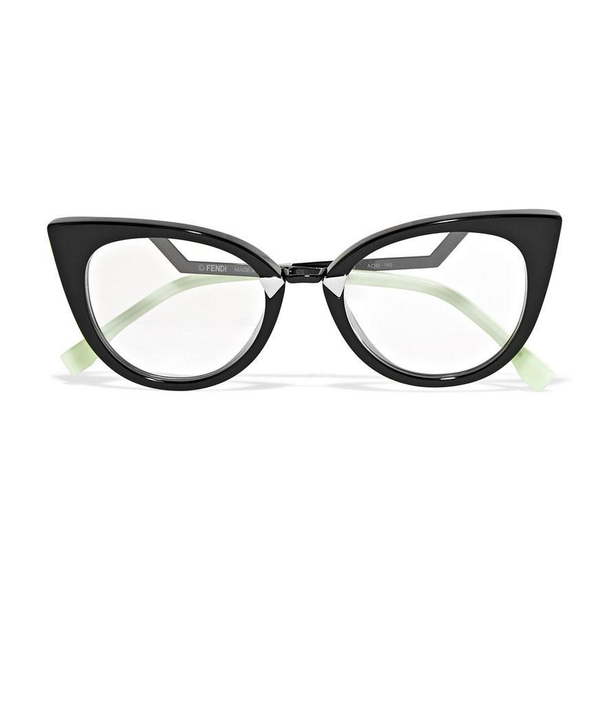 "<p>Cat-eye acetate and silver-tone optical glasses, $465, <a href=""https://www.net-a-porter.com/us/en/product/999574?cm_mmc=polyvoreUS-desktop-_-cpc-_-eyeglasses-_-https://www.net-a-porter.com/us/en/product/999574"" rel=""nofollow noopener"" target=""_blank"" data-ylk=""slk:net-a-porter.com"" class=""link rapid-noclick-resp"">net-a-porter.com</a> </p>"
