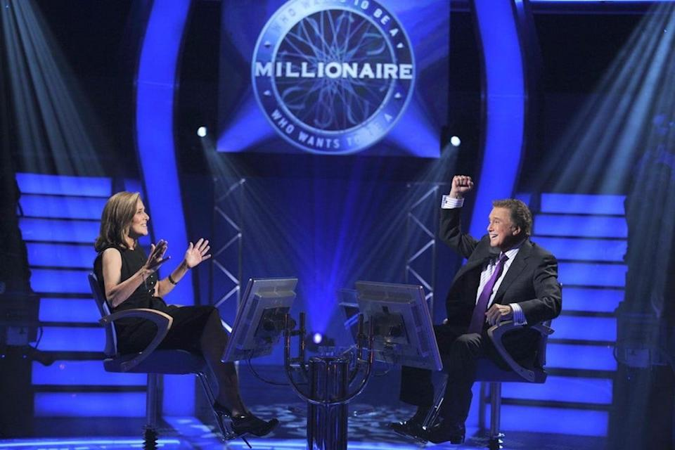 Meredith Vieira and Regis Philbin on Who Wants to be a Millionaire set