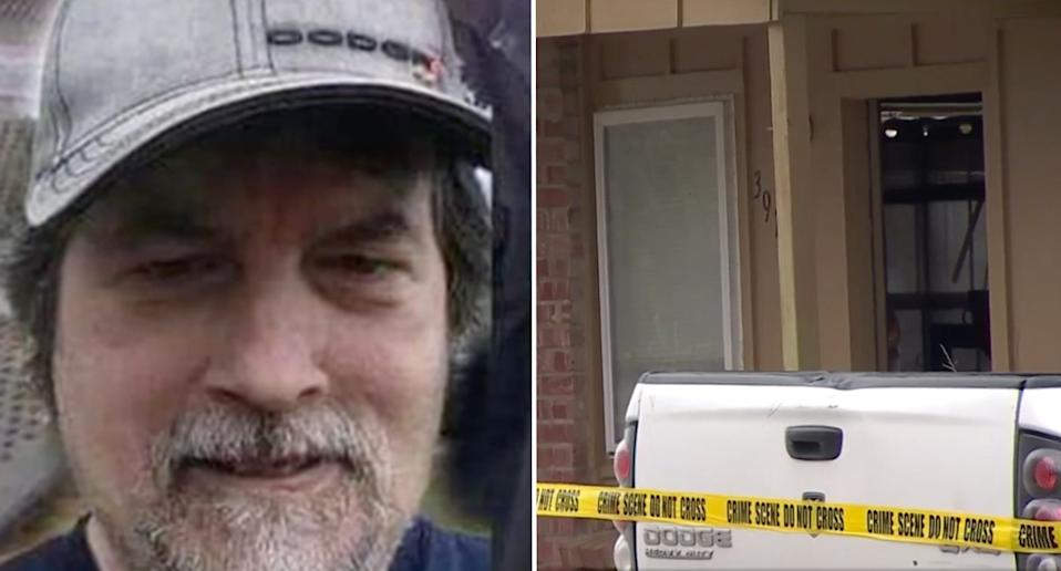 David Kaser seen left and the home where the crime was committed right.