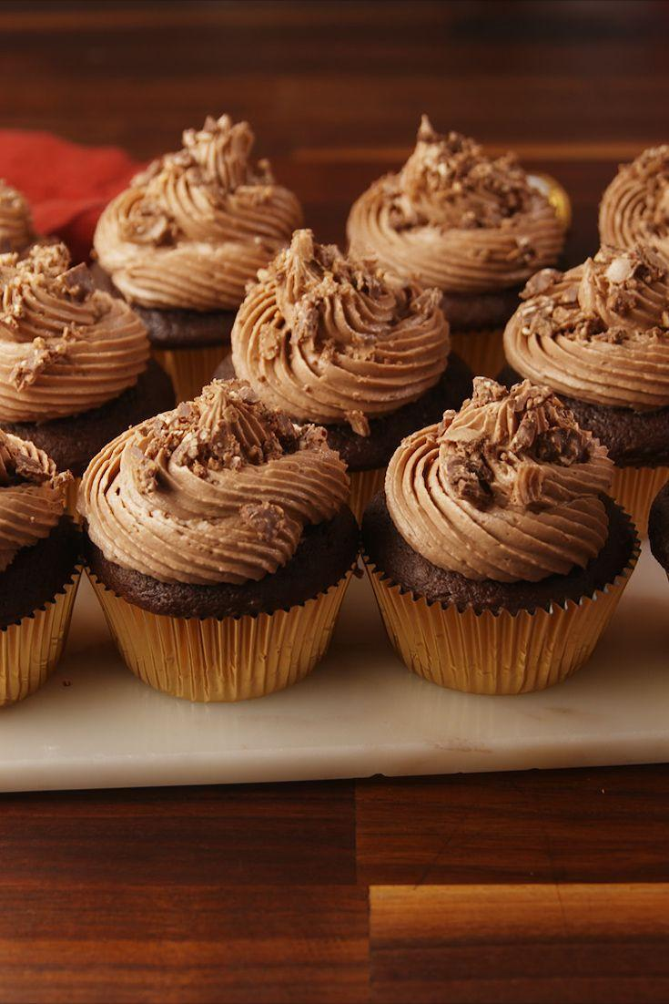"""<p>Any cupcake with a candy stuffed inside is the right kind of cupcake.</p><p>Get the recipe from <a href=""""https://www.delish.com/cooking/recipe-ideas/recipes/a56206/ferrero-rocher-stuffed-cupcakes-recipe/"""" rel=""""nofollow noopener"""" target=""""_blank"""" data-ylk=""""slk:Delish"""" class=""""link rapid-noclick-resp"""">Delish</a>.</p>"""