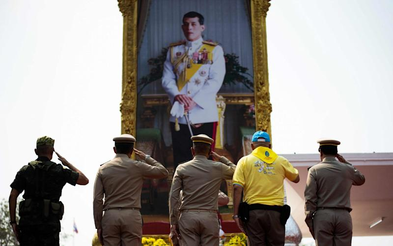 Thailand's King Maha Vajiralongkorn first stripped his 34-year-old consort of all titles - AFP