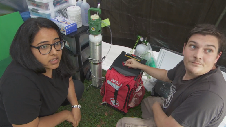 Unsanctioned overdose prevention site opens in Parkdale as province freezes funding