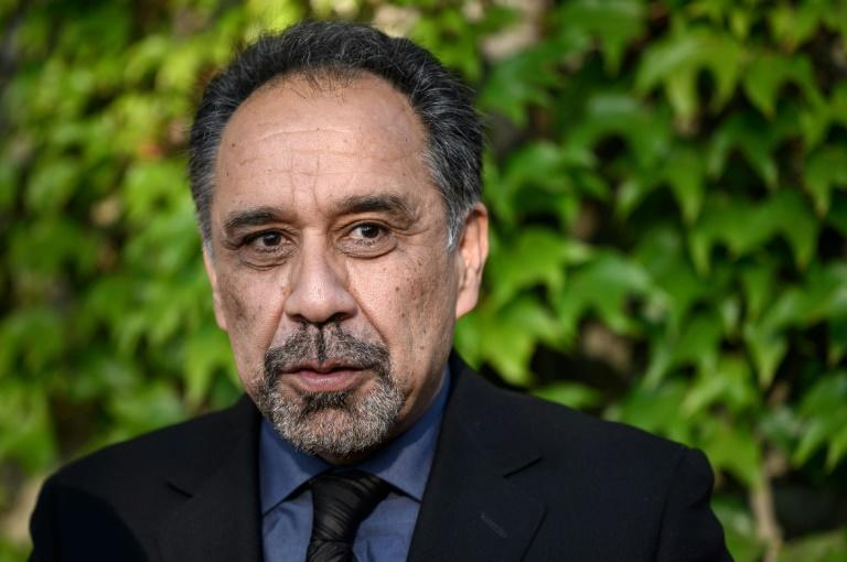 Ahmad Wali Massoud, brother of the famed Mujahideen leader Ahmed Shah Massoud, appealed for international support for the Afghan resistance (AFP/Fabrice COFFRINI)