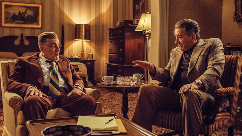 Al Pacino and Robert De Niro in The Irishman (Credit: Netflix)