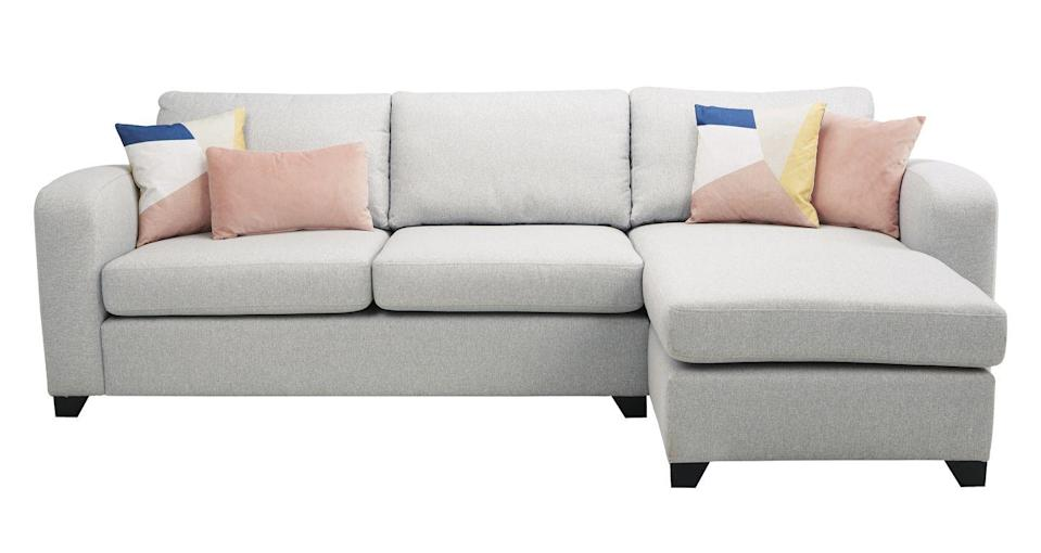 """<p>Upholstered in beautifully soft yet hard-wearing fabric with no-plump, pillow-back cushions, gently rounded arms and stylish wooden feet, Layla is the perfect combination of comfort and style. Available in 12 colours.</p><p><a class=""""link rapid-noclick-resp"""" href=""""https://www.dfs.co.uk/layla/lya1zflyl#productInformation"""" rel=""""nofollow noopener"""" target=""""_blank"""" data-ylk=""""slk:SHOP NOW"""">SHOP NOW</a></p>"""
