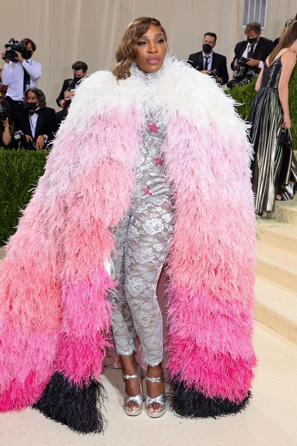 <p>The tennis legend wowed in a look that was part superhero, part drag queen, and spectacular all over. We just can't look at this without smiling. </p>