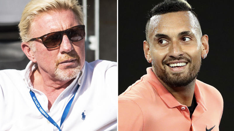 Boris Becker and Nick Kyrgios, pictured here in 2019.