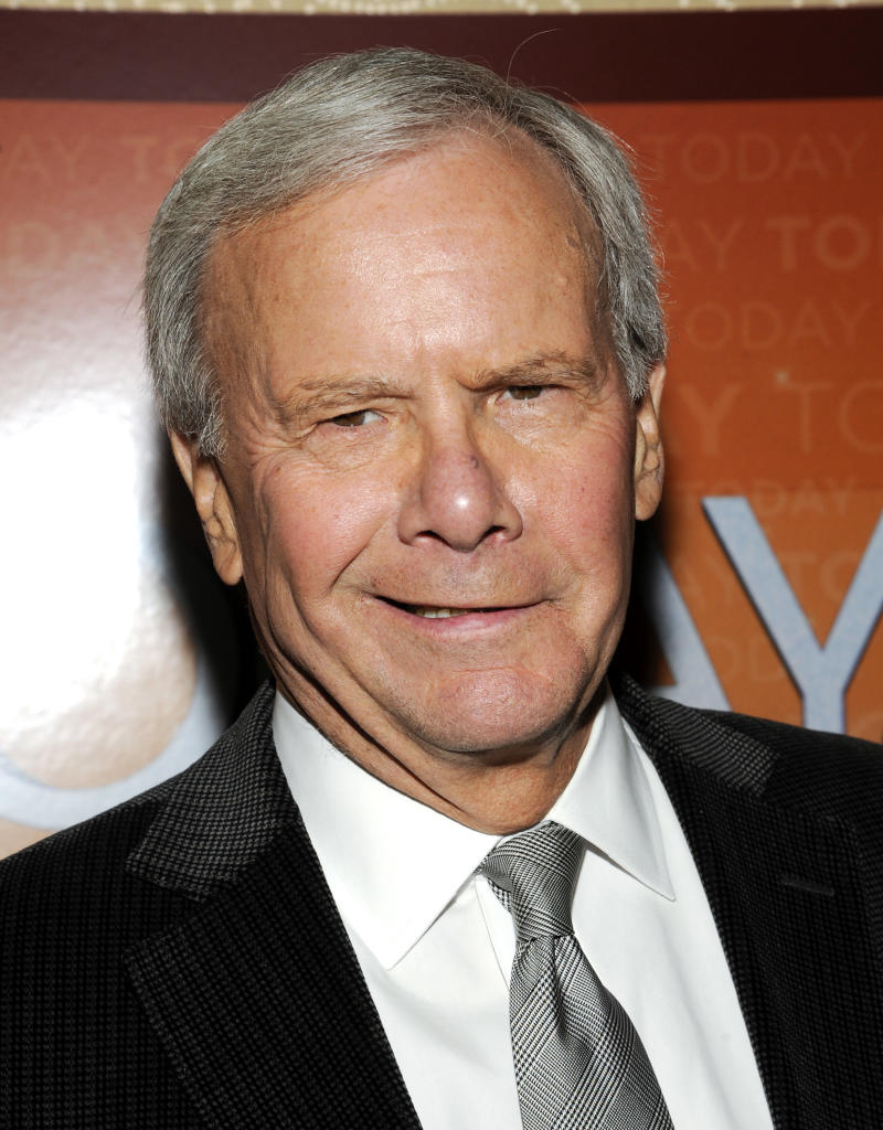 "FILE - This Jan. 12, 2012 file photo shows NBC News special correspondent and former ""Today"" show host Tom Brokaw attending the ""Today"" show 60th anniversary celebration at the Edison Ballroom in New York. Brokaw was taken to a Charlotte, N.C., hospital Thursday morning after appearing on MSNBC's ""Morning Joe."" The network says Brokaw felt ""light-headed"" on the set of the news-talk program, which has been originating this week from Charlotte. ""Out of an abundance of caution,"" he was taken to the hospital, which was not identified. He was being evaluated and ""is in good spirits,"" NBC said. (AP Photo/Evan Agostini, file)"
