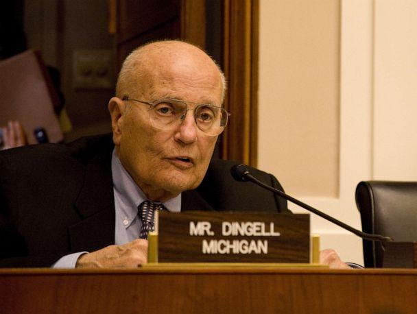 PHOTO: Former Chairman of the House Energy and Commerce Committee, Rep. John D. Dingell (voices his support for the latest incarnation of the House's climate change legislation on the Capitol Hill in Washington, May 18, 2009. (CQ-Roll Call, Inc via Getty Images, FILE)