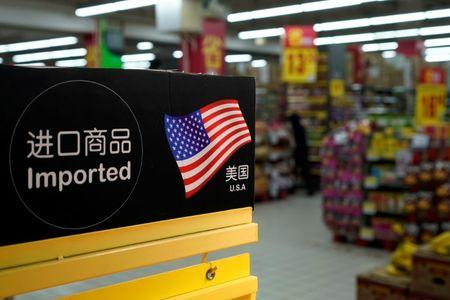 Imports from the U.S. are seen at a supermarket in Shanghai, China April 3, 2018. REUTERS/Aly Song/Files