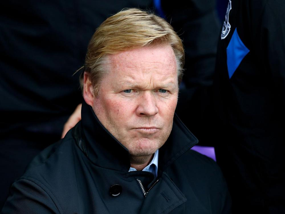 Koeman is all in sorts of bother at Everton (PA)