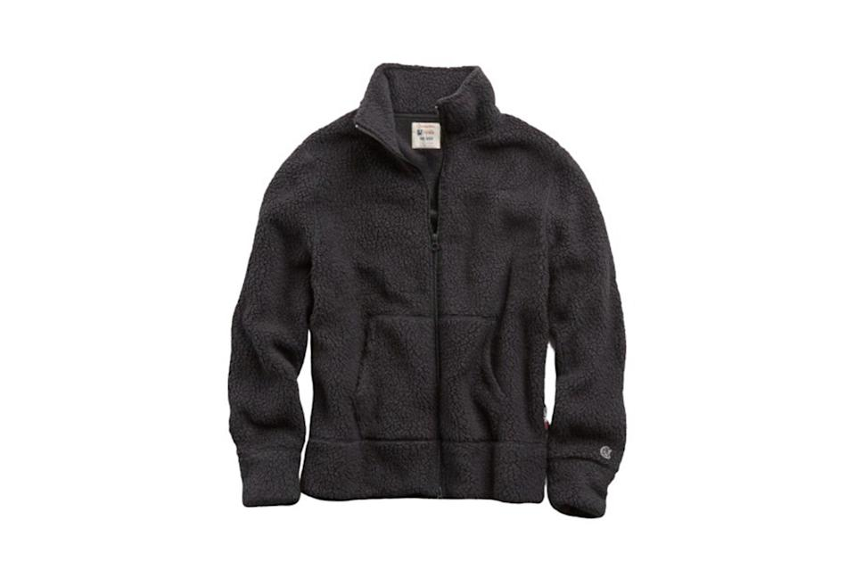 "$188, Todd Snyder. <a href=""https://www.toddsnyder.com/collections/sale/products/full-zip-polartec-heather-charcoal"" rel=""nofollow noopener"" target=""_blank"" data-ylk=""slk:Get it now!"" class=""link rapid-noclick-resp"">Get it now!</a>"