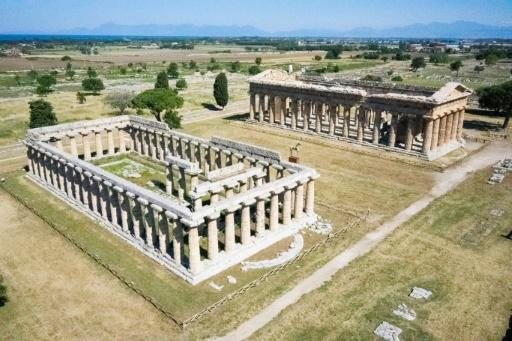 The temple complex at Paestum was the first archeological site opened, with strict health measures in place, as Italy eased its coronavirus lockdown