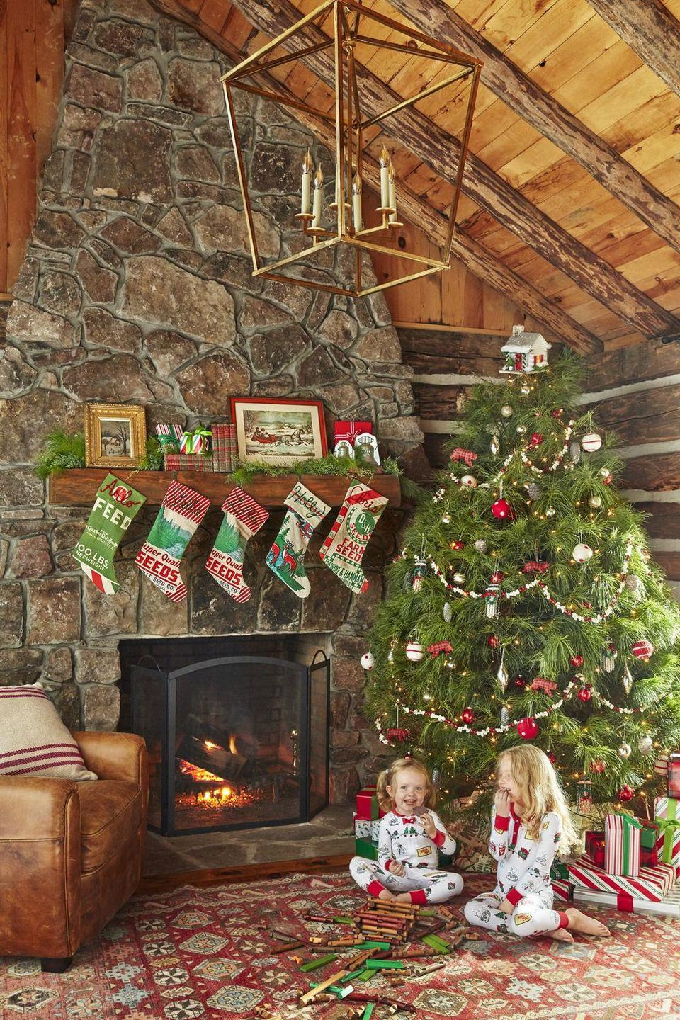 """<p>Why <a href=""""https://www.countryliving.com/home-design/decorating-ideas/tips/g1251/trim-christmas-trees-1208/"""" rel=""""nofollow noopener"""" target=""""_blank"""" data-ylk=""""slk:decorate your tree"""" class=""""link rapid-noclick-resp"""">decorate your tree</a> alone? Invite friends from near and far to join you in the fun. Set out popcorn, cranberries, and thread for an old-fashioned look, or simply let your guests take turns adding ornaments to the branches. You can also ask that they bring one to share—that way, the party's personal too!</p><p><a class=""""link rapid-noclick-resp"""" href=""""https://go.redirectingat.com?id=74968X1596630&url=https%3A%2F%2Fwww.etsy.com%2Flisting%2F906663954%2Fgingerbread-house-personalized-christmas&sref=https%3A%2F%2Fwww.countryliving.com%2Fdiy-crafts%2Fhow-to%2Fg2218%2Fchristmas-party-ideas%2F"""" rel=""""nofollow noopener"""" target=""""_blank"""" data-ylk=""""slk:SHOP GINGERBREAD TREE ORNAMENTS"""">SHOP GINGERBREAD TREE ORNAMENTS</a></p>"""