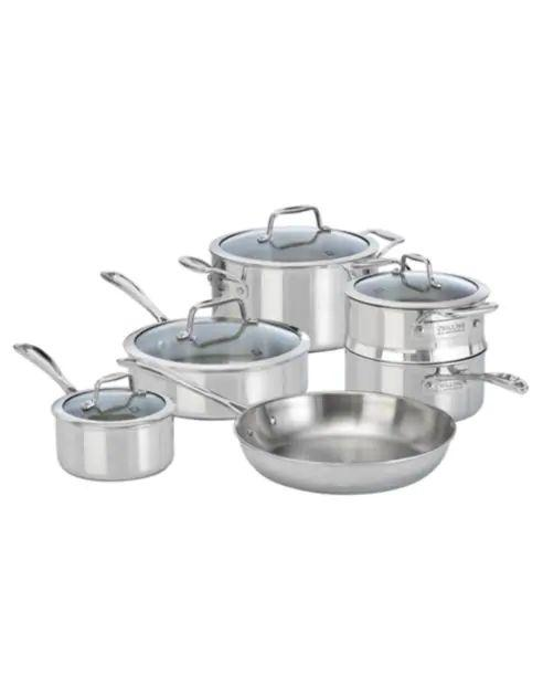 Zwilling J.A. Henckels VistaClad 10-Piece Cookware Set - Induction Ready