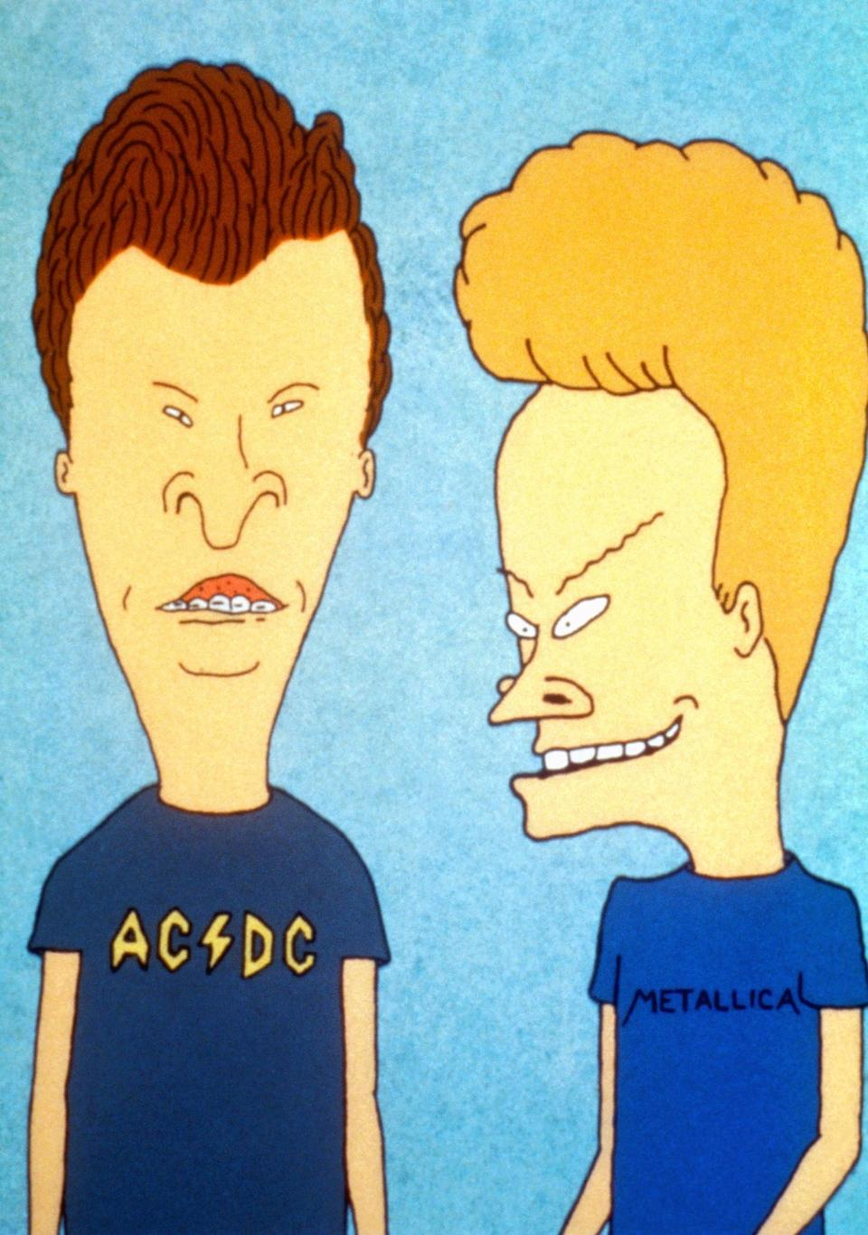 <ul> <li><b>What to wear for Butt-Head:</b> Red shorts, a black AC/DC t-shirt, and a slicked-back rockabilly hairstyle. Bonus points for fake braces.</li> <li><b>What to wear for Beavis:</b> Gray shorts and a blue Metallica shirt; tease your blond hair up.</li> <li><b>How to act:</b> Just get the laugh down, and you're golden. Heh, heh, heh.</li> </ul>