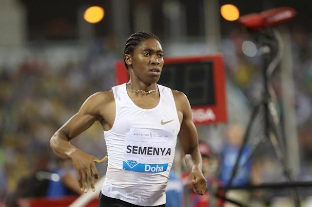 Caster Semenya was keen to look beyond the recent controversy over new athletics rules on testosterone (AFP Photo/KARIM JAAFAR)
