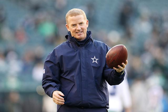 Jason Garrett will be sticking around the NFC East after all. (Patrick Smith/Getty Images)