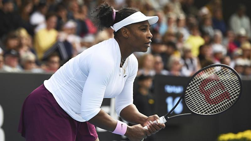 Serena Williams opened her year with a straight-sets win over Italy's Camila Giorgi in Auckland