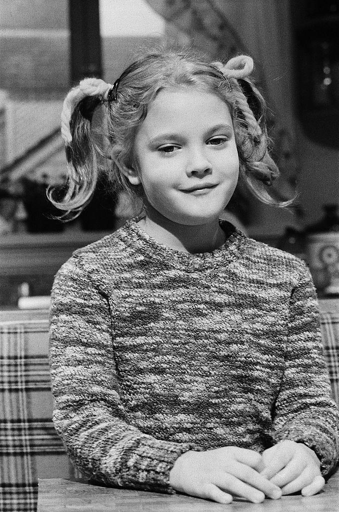 "Drew Barrymore on ""Saturday Night Live"" on November 20, 1982, when she was seven years old."