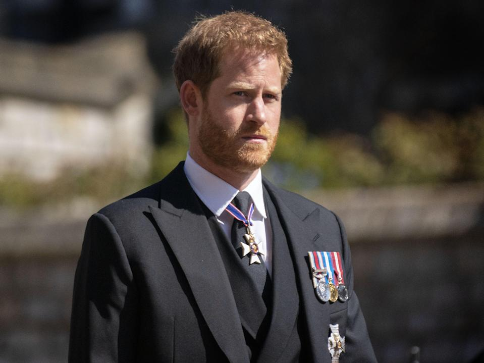 Prince Harry during the funeral of the Duke of Edinburgh (PA)