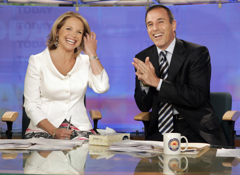 """<p> FILE - In this May 31, 2006 file photo, Katie Couric and Matt Lauer, co-hosts of the NBC Today"""" program, open her farewell broadcast in New York. Couric told People in a story published Saturday, Jan. 13, 2018: """"I had no idea this was going on during my tenure or after I left."""" She left NBC in 2006 to anchor the """"CBS Evening News"""" and has been criticized for not speaking out in the more than a month since Lauer was fired. The show's network, NBC, said an investigation of a Lauer colleague's detailed complaint showed """"inappropriate sexual behavior."""" Since, other women have reportedly accused him of harassment and assault.(AP Photo/Richard Drew, File) </p>"""