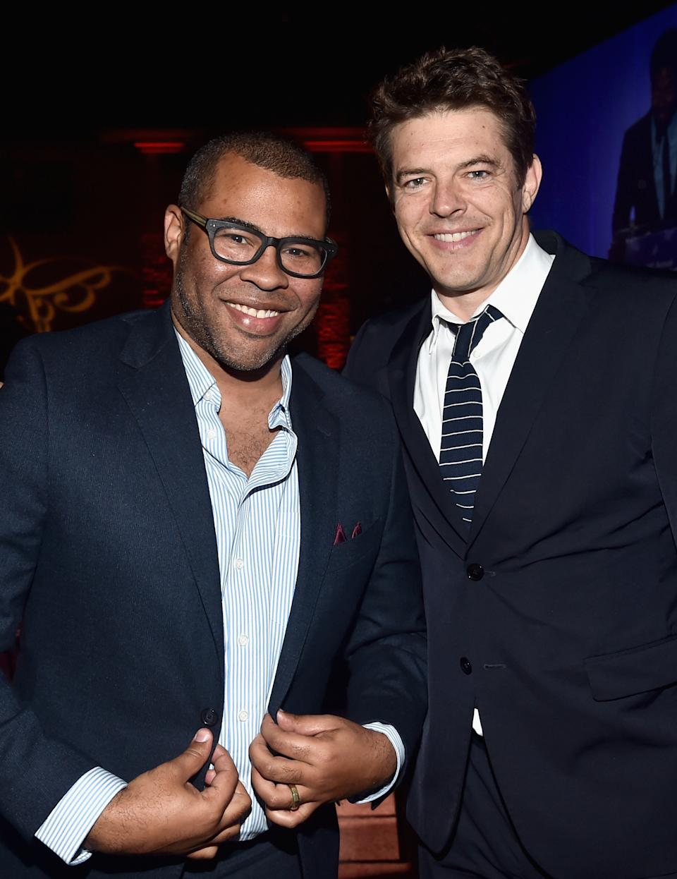 LOS ANGELES, CA - JUNE 03: Actor Jordan Peele (L) and producer Jason Blum at the 16th Annual Chrysalis Butterfly Ball on June 3, 2017 in Los Angeles, California.  (Photo by Alberto E. Rodriguez/Getty Images for Chrysalis Butterfly Ball)