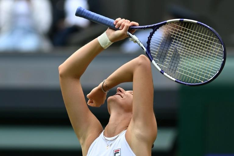 Karolina Pliskova may have less pressure on her than world number one Ashleigh Barty in the Wimbledon women's final as her main goal was simply getting into the second week of the major