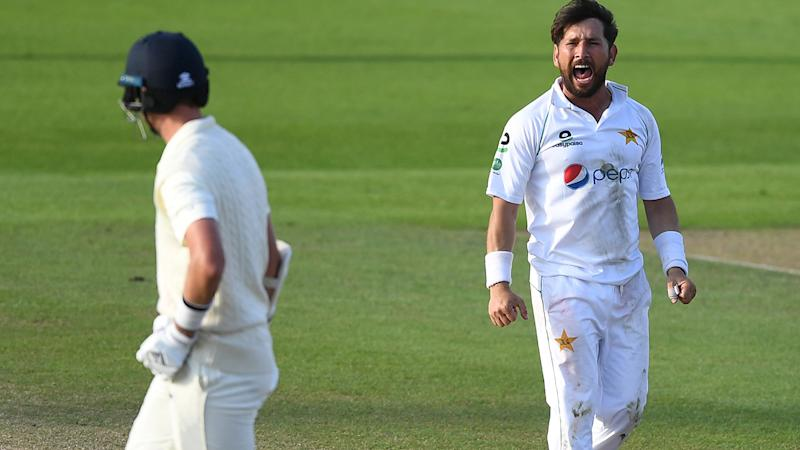 Yasir Shah and Stuart Broad, pictured here during the first Test between England and Pakistan.