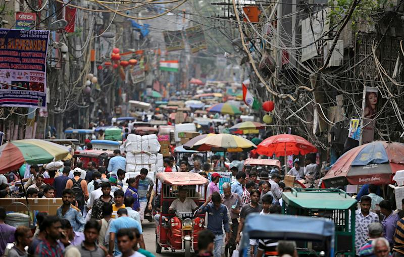 A market place in New Delhi, India. The country is among nine that will be responsible for more than half the projected population growth between now and 2050.