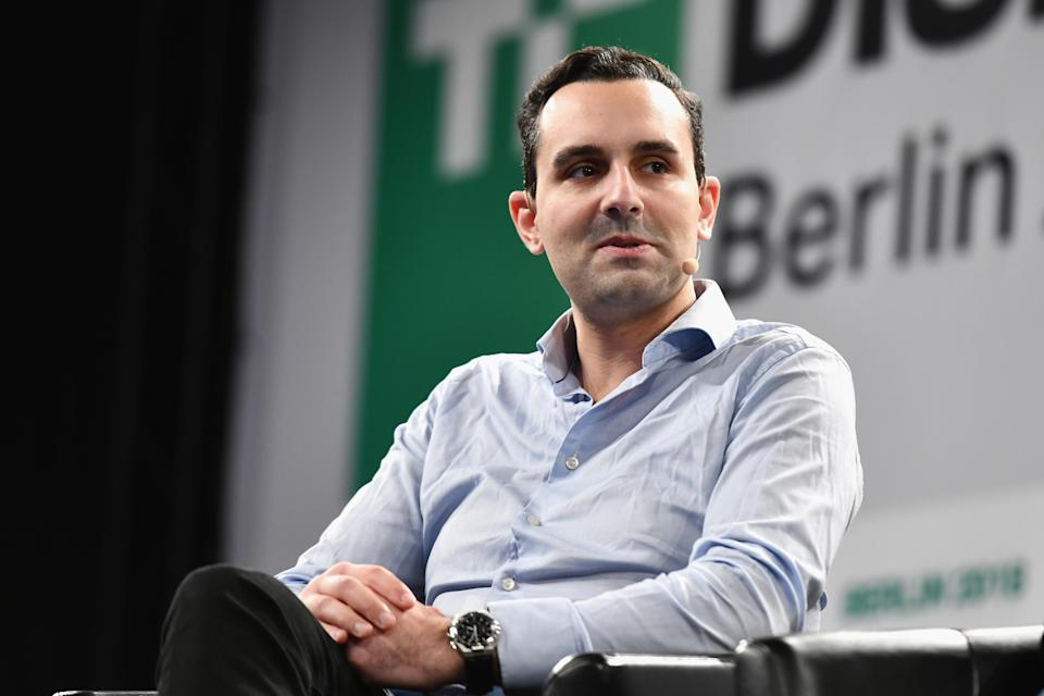 BERLIN, GERMANY - NOVEMBER 30: CEO of Truecaller Alan Mamedi speaks on stage during TechCrunch Disrupt Berlin 2018 at Treptow Arena on November 30, 2018 in Berlin, Germany. (Photo by Noam Galai/Getty Images for TechCrunch)