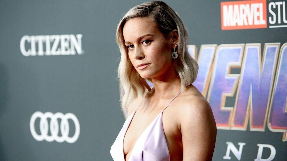 The 'Captain Marvel' actress had a steamy afternoon of grocery shopping with a handsome actor on Tuesday.