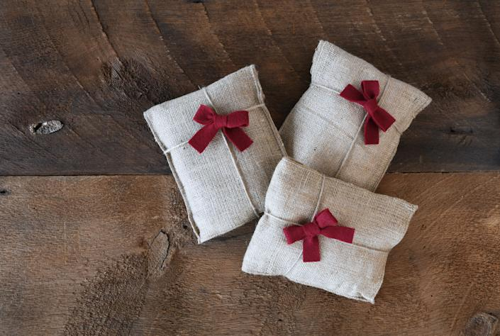 """<strong>For whenever you're feeling:</strong>Like you want to stop creating more waste; like you want to make a unique, homemade gift. <a href=""""https://www.huffingtonpost.ca/entry/fabric-bags_ca_5de7c1a1e4b0d50f32ac2b5d"""" target=""""_blank"""" rel=""""noopener noreferrer"""">Read more here.</a>"""