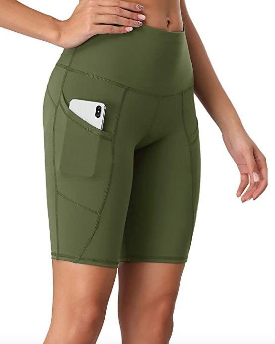 "<a href=""https://amzn.to/33JPUf5"" rel=""nofollow noopener"" target=""_blank"" data-ylk=""slk:These bike shorts"" class=""link rapid-noclick-resp"">These bike shorts</a> are made with 75% nylon and 25% Spandex, and include a side pocket. They are available in <a href=""https://amzn.to/33JPUf5"" rel=""nofollow noopener"" target=""_blank"" data-ylk=""slk:more than 35 colors and prints"" class=""link rapid-noclick-resp"">more than 35 colors and prints</a>.<br><strong>Sizes</strong>: XS to XXL<br><strong>Rating</strong>: 4.6-star rating<br><strong>Reviews</strong>: more than 2,000 <br><br><a href=""https://amzn.to/33JPUf5"" rel=""nofollow noopener"" target=""_blank"" data-ylk=""slk:Find them for $25 on Amazon"" class=""link rapid-noclick-resp"">Find them for $25 on Amazon</a>."