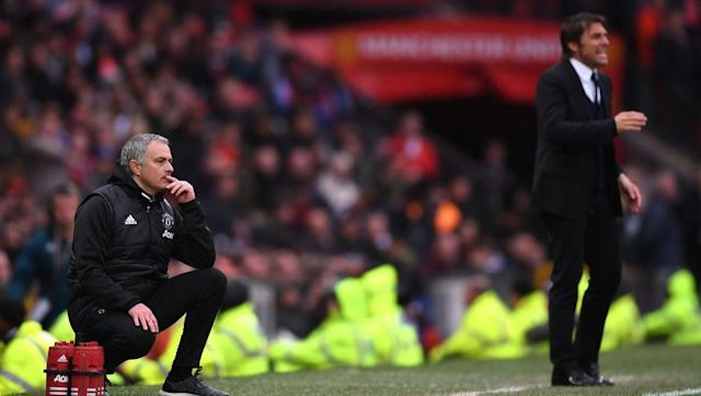 <p>There was a war of words between Man Utd boss Jose Mourinho and Chelsea's Antonio Conte before Sunday's showdown clash at Old Trafford, and with the Red Devils coming out on top in a 2-0 win, bragging rights are parked firmly in Mourinho's camp this weekend.</p> <br><p>The self-professed 'Special One' tactically outfought his opposite number on Sunday, stopping the Blues from having a single shot on target for the first time in 10 years.</p> <br><p>The Red Devils also looked far better than Chelsea going forward, scoring twice through Rashford and Herrera, but it was the way Man Utd worked off the ball that particularly impressed.</p> <br><p>United are now four points off City and the elusive top-four, but with the Manchester derby just over a week away, Mourinho will be hoping his side can trump their local-rivals and sneak into next season's Champions League.</p>