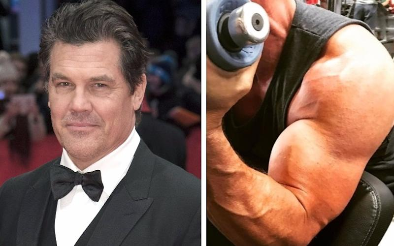 Are Josh Brolin's guns big enough for Cable yet? (Credit: WENN/Josh Brolin's Instagram)