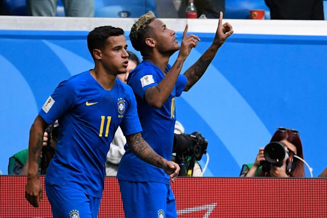 Neymar and Philippe Coutinho scored massive goals for Brazil, which still looks like the 2018 World Cup favorite. (Getty)
