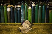 People in Peru have had to queue for days, and nights, to get their hands on an oxygen refill for loved ones battling coronavirus infection