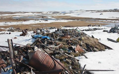 Amderma decided to move its rubbish dump after the 'polar bear invasion' in nearby Belushya Guba in February - Credit: Alec Luhn/For The Telegraph