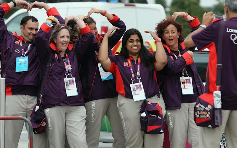 Time spend volunteering has fallen by 7 per cent since 2012, when London hosted the Olympics with the help of thousands of volunteers - Dan Kitwood/Getty Images