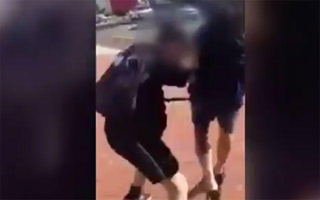 Another video shows young men fighting. Photo: 7 News