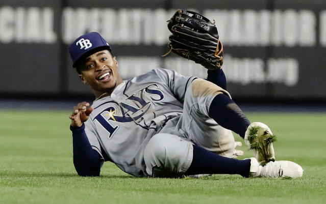 "<a class=""link rapid-noclick-resp"" href=""/mlb/players/10117/"" data-ylk=""slk:Mallex Smith"">Mallex Smith</a> is flying under the radar in early fantasy drafts (AP Photo)."